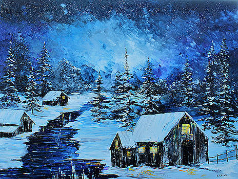 Snowy Cabin by Kevin Brown