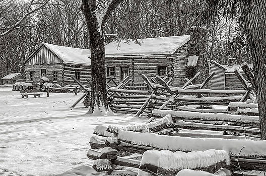 Snowy Cabins by Kirk Sewell