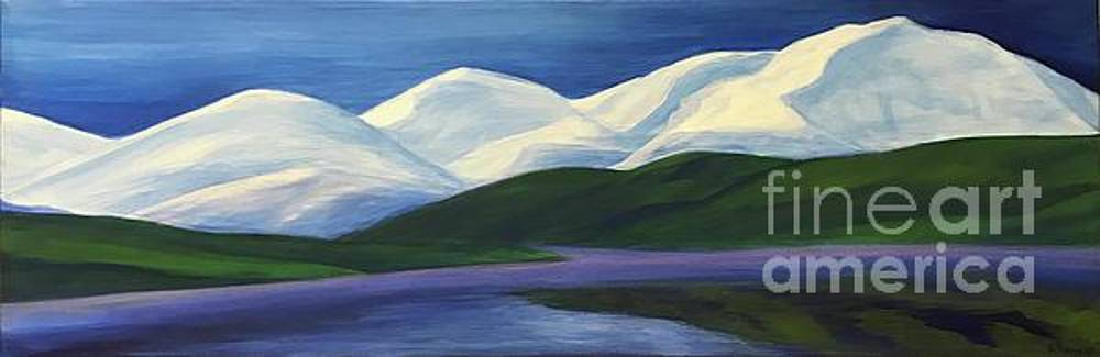 Snowy Mountains by Emily Young