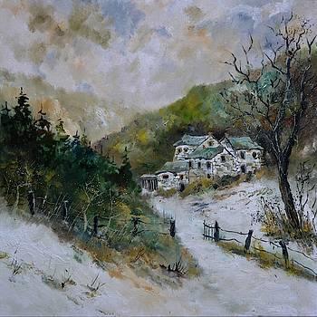 Snowy natural landscape by Pol Ledent