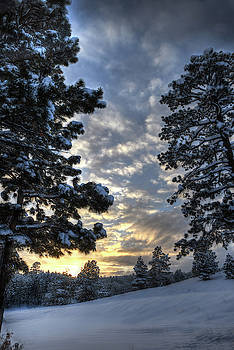 Snowy Sunset by Mark Langford