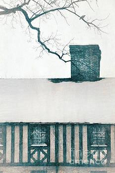 Snowy Tudor Rooftop by Jill Battaglia