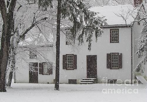 Snowy Wintery View of Frye House by Anne Ditmars