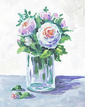 Soft Tones Flowers Bouquet Floral Impressionism  by Irina Sztukowski