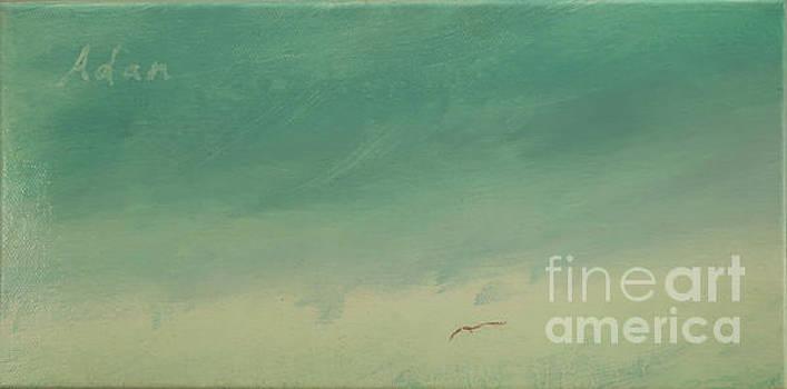 Solo Flight Blue Sky by Felipe Adan Lerma