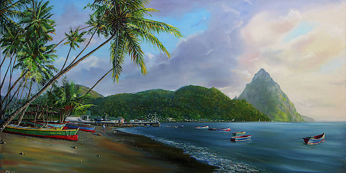 Soufriere Beach by Jonathan Guy-Gladding JAG