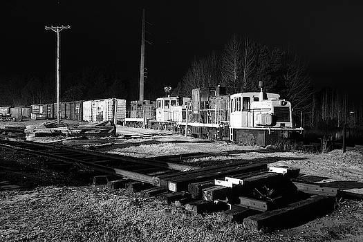 South Carolina Railroad Museum 4 B W 27 Night by Joseph C Hinson
