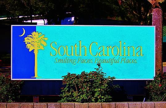 South Carolina Sign by Cynthia Guinn