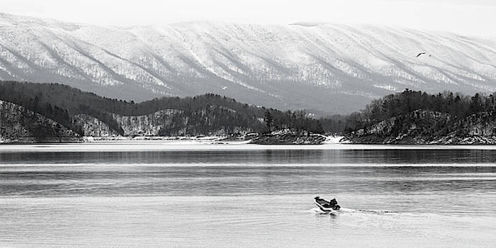 South Holston Winter in Black and White by Greg Booher