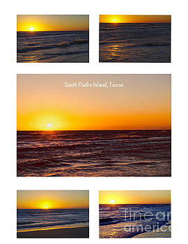 South Padre Island Sunrise Poster by Gary Richards