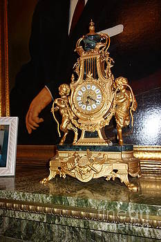 Susan Carella - Southern Mansion Clock and Marble Mantle