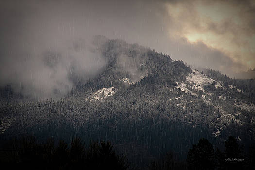 Southern Oregon Mountain Winter Scene by Mick Anderson