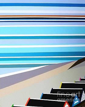 Southwold Beach Dreams 3 by Zizi Lagadec