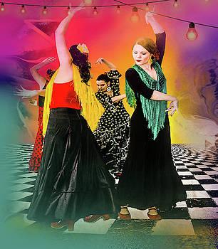Spanish Dancing by Jeff Burgess