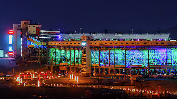 Speedway in Lights at Bristol Motor Speedway by Greg Booher