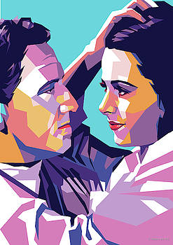 Spencer Tracy and Hedy Lamarr by Stars on Art