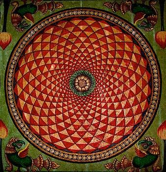 Spiral Mandala at Meenakshi Temple, Madurai, India by David Wells