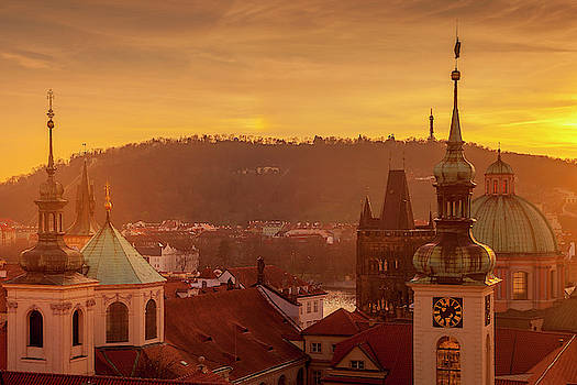 Spires of Prague by Andrew Soundarajan