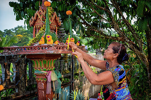 Spirit House Blessing Candles by Lee Craker