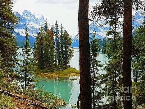 Spirit Island Maligne Lake Alberta Canada Jasper National Park by Art Sandi