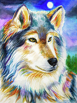 Spirit Wolf in Winter by Patricia Allingham Carlson