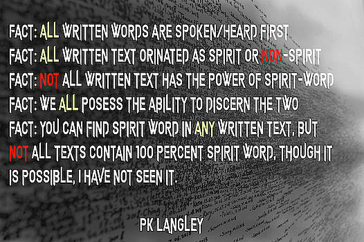 Spirit Word by PK Langley