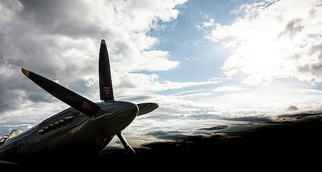 Spitfire into the sun by Scott Lyons