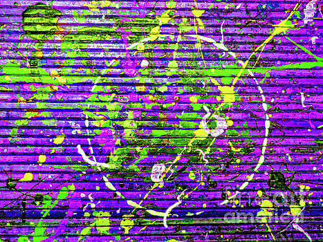 Sharon Williams Eng - Splash in Purple and Green