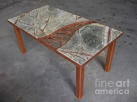 Split Circle Tree Table by Kasey Jones