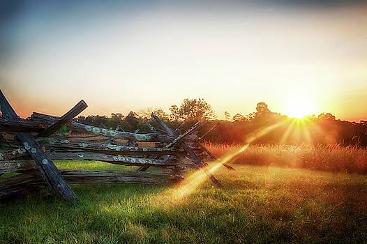Split-Rail Sunset by Travis Rogers