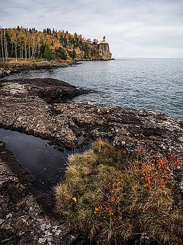 Split Rock Lighthouse Rocky Shore by Whitney Leigh Carlson