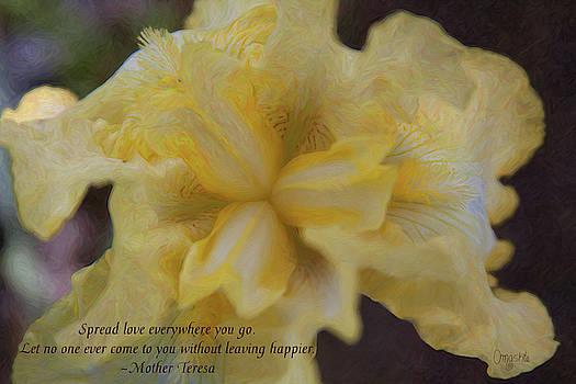Spreading Love - Motivational Flower Art by Omaste Witkowski by Omaste Witkowski
