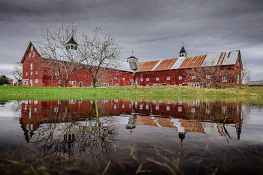 Spring Barn Reflection Alternate by Tim Kirchoff