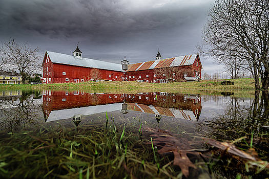 Spring Barn Reflection by Tim Kirchoff