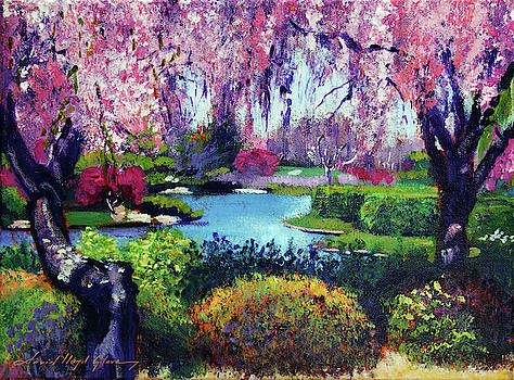 Spring Day In The Park - Plein Air by David Lloyd Glover