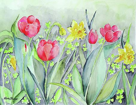 Spring Garden Flowers by Elvira Rascov