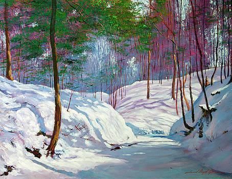 Spring Snowfall by David Lloyd Glover