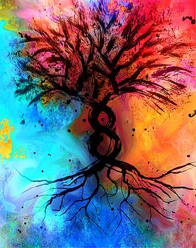 Spring Tree of Life by Abstract Angel Artist Stephen K