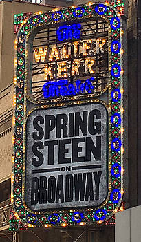 Springsteen on Broadway Sign by Melinda Saminski