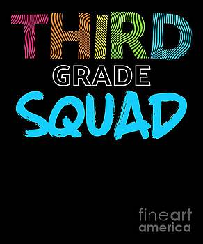 Squad Third Grade Blue Light Funny Third Grade 3rd Teacher Appreciation Gift by J P