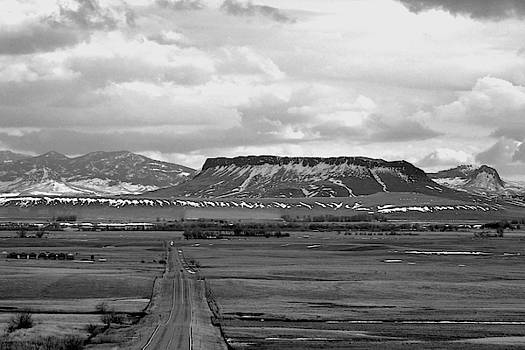 Square Butte Chouteau County  by Kae Cheatham