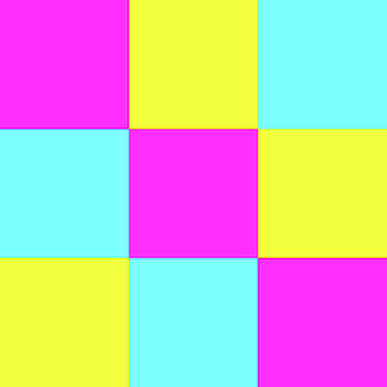 Squares of Cyan and Yellow and Magenta by Bill Swartwout Fine Art Photography
