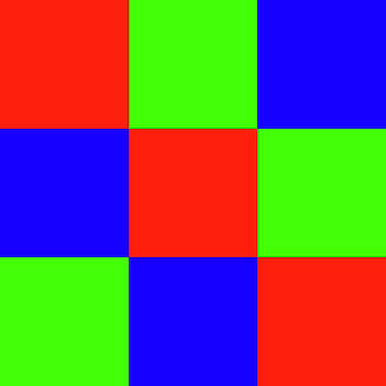 Squares of Red and Blue and Green by Bill Swartwout Fine Art Photography