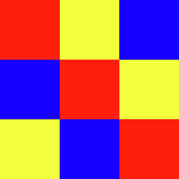 Squares of Red and Yellow and Blue by Bill Swartwout Fine Art Photography