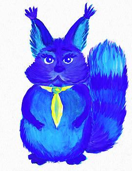 Squirrel named Panka by Dobrotsvet Art