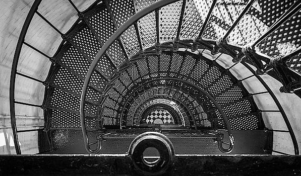 St Augustine Lighthouse Looking Down by David Hart