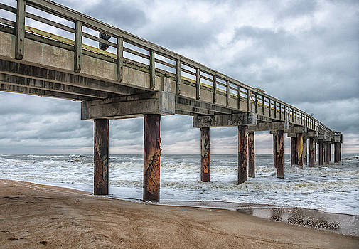 St. Augustine Pier During a Storm by Jeffrey Klug