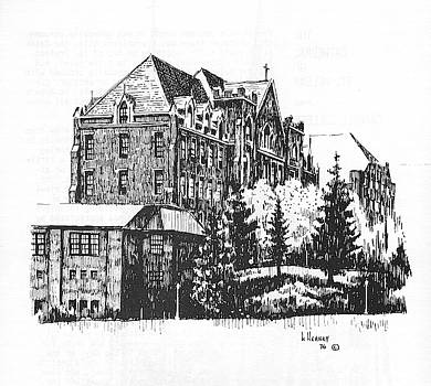 St Charles Hall Carroll College Helena Montana by Kevin Heaney