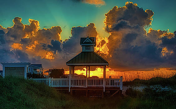 St James Beach Club Sunrise by Nick Noble