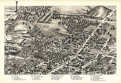 St. Louis Missouri Map 1875 by Zal Latzkovich